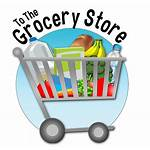 Grocery Clipart Supermarket Shopping Icon Background Cart
