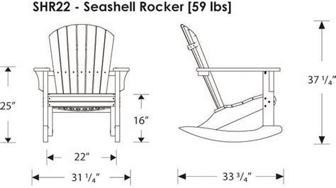 polywoodfurniture gt polywood 174 shr22 seashell rocking chair