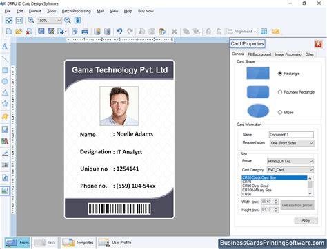 id cards designing software designs employee student