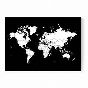 Dekokissen Schwarz Weiß : weltkarte poster in schwarz wei l nder zum abziehen ~ Frokenaadalensverden.com Haus und Dekorationen