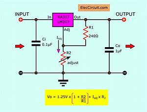 Lm317 Voltage Regulator  Pinout  Calculator  And Circuits