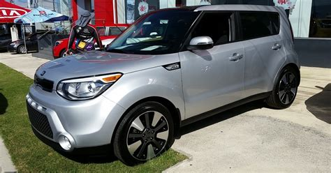 Silver Kia Soul tksb 2015 2016 kia soul player trim bright silver from