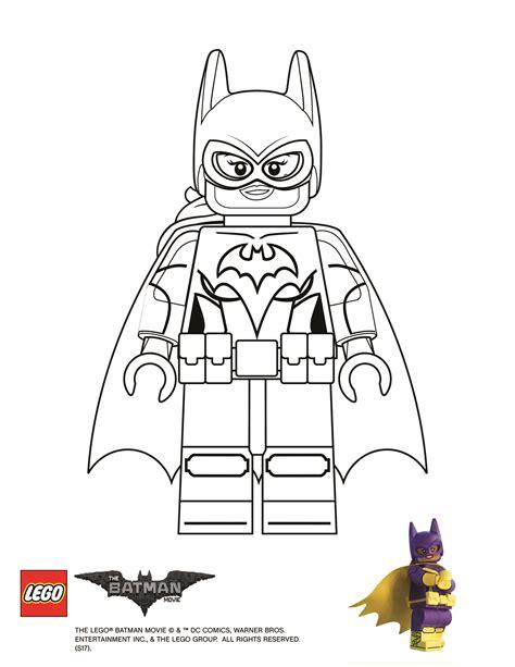 coloring page batgirl  lego batman