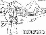 Hunter Coloring Pages Hunter1 sketch template