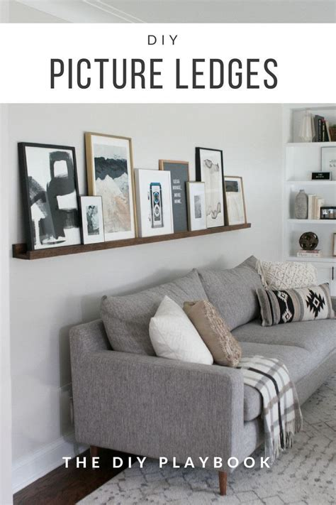 See more ideas about home decor, home, decor. Homemade Wall Decoration Ideas for Bedroom Lovely Diy Picture Ledge Over the Couch Filled with A ...