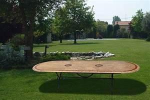 Grande Table De Jardin : meubles de jardin domino 15 photos ~ Teatrodelosmanantiales.com Idées de Décoration