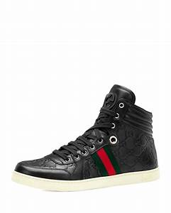 f56abe29fdd Gucci High Top Sneaker. leather high top sneaker with tiger gucci ...