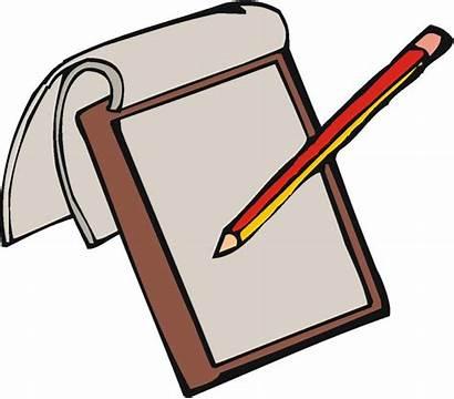 Notebook Clipart Clip Paper Pencil Clipartion
