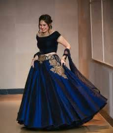 buy indian wedding decorations buy blue taffeta silk embroidery unstitched lehenga choli