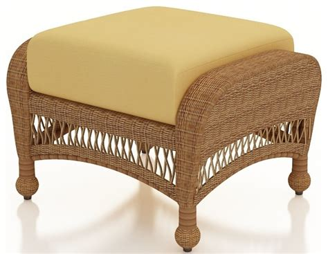 patio wicker ottoman straw wicker wheat