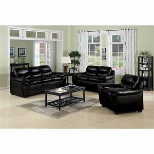 luxury black leather sofa set living room inspiration best With black furniture living room ideas