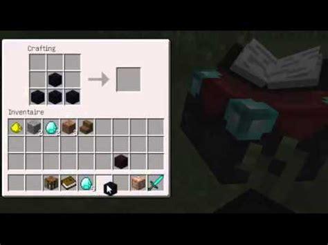comment faire une cuisine dans minecraft tuto comment faire une table d 39 enchantement dans