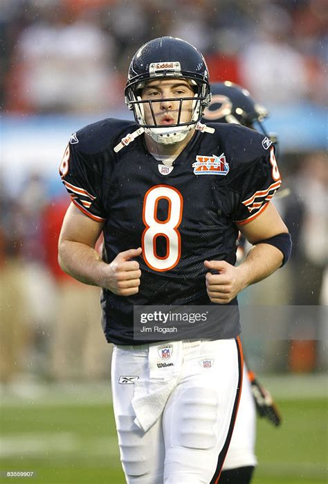 Rex Grossman Warms Up Prior To Super Bowl Xli Between The
