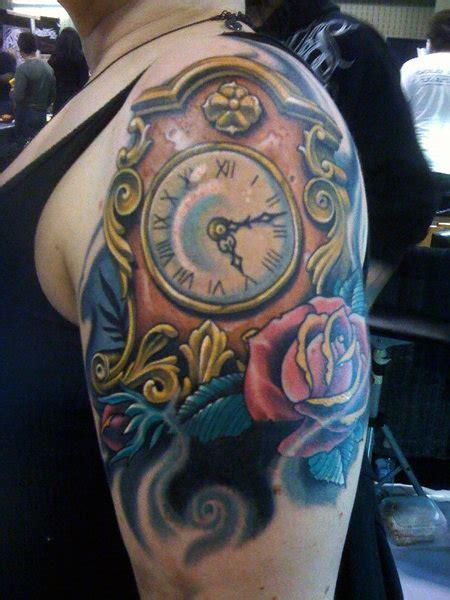 incredible broken clock tattoos