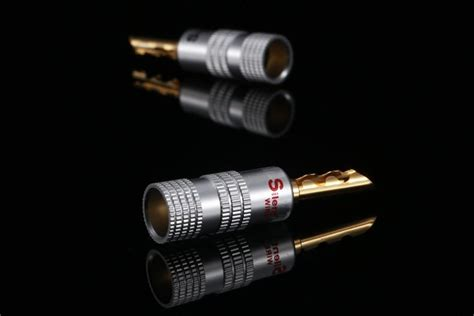2019 24k Gold! 4mm S W Banana Plug Terminal Pure Copper