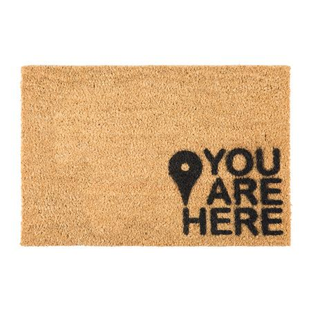 Buy Doormat buy artsy doormats you are here door mat amara