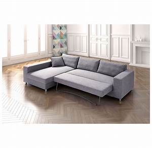 Zuo Modern Roxboro Sofa Lit Sectionnel Gris DISC