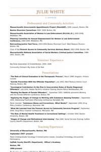 resume with community service service communautaire exemple de cv base de donn 233 es des cv de visualcv