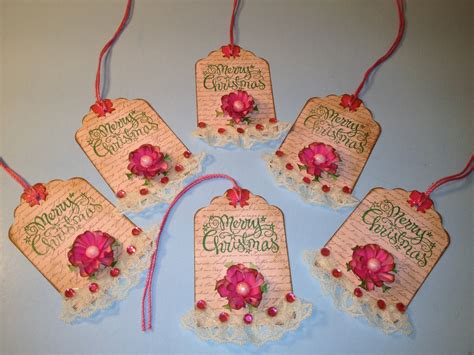 shabby chic tags shabby chic christmas pink christmas gift tags