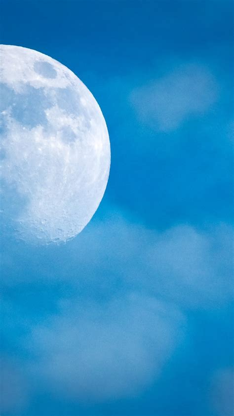 wallpaper full moon blue sky hd nature