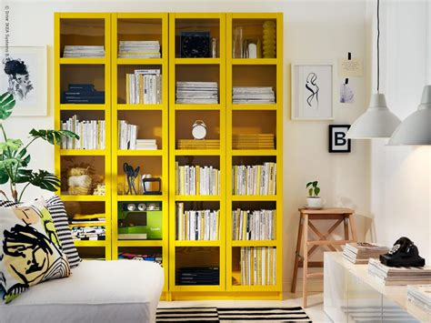 Bookcase Inspiration by Billy Gul Ikea Bungalow5