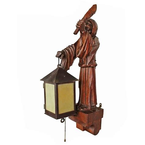 early 20th century carved monk sconce at 1stdibs