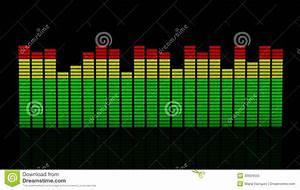 Digital equalizer in 3d stock illustration. Image of image ...
