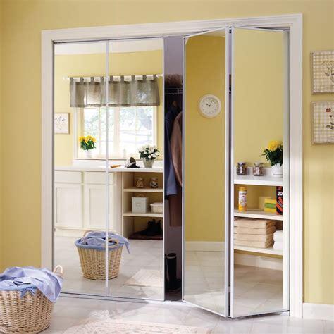 reliabilt flush mirror bi fold closet interior door