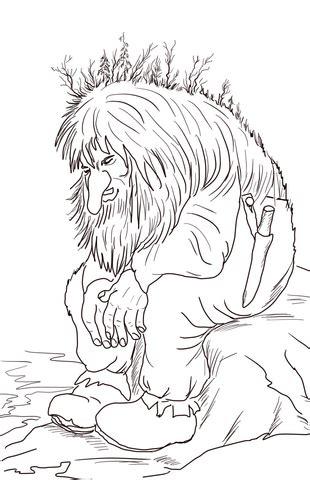 norwegian troll coloring page supercoloringcom