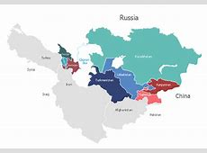 Central Asia Political map North Asia Political map