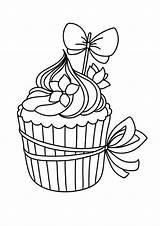 Coloring Cupcakes Cupcake Coloriage Dessin Imprimer Dibujos Colorear Skull Colorir Colorier Adult Pintura Bordado Desenhos Drawing Petit Bordar Mano Plastique sketch template