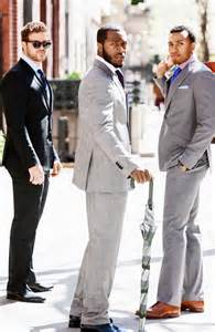 Well-Dressed Men in Suits in Black