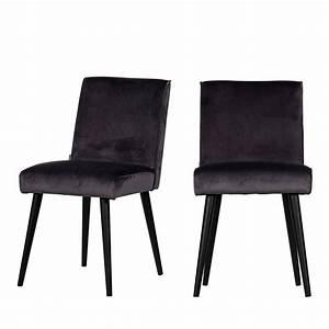 Chaise Velours Design : le lot 2 chaises design en velours sara drawer ~ Teatrodelosmanantiales.com Idées de Décoration