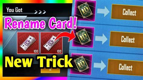 Get FREE Rename Card in PUBG Mobile - New Rename Card ...