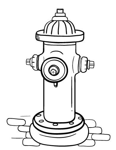 printable fire hydrant coloring page     httpcoloringcafecomcoloring