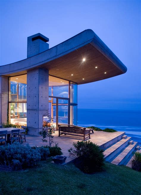seaside villa  rooftop gardens modern house designs
