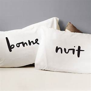 bonne nuit pillow cases by old english company