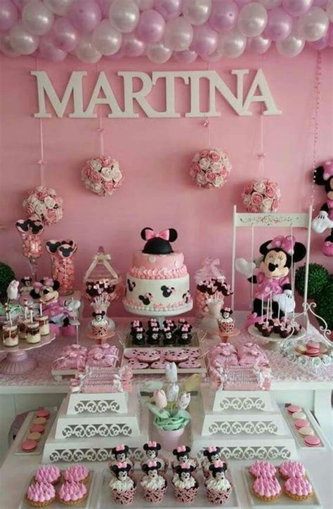 minnie mouse themed baby shower pictures