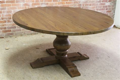 chestnut pedestal table  extension ecustomfinishes
