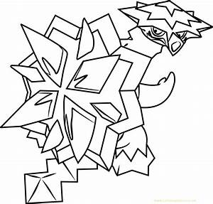 pokemon sun and moon coloring pages - turtonator pokemon sun and moon kids coloring page