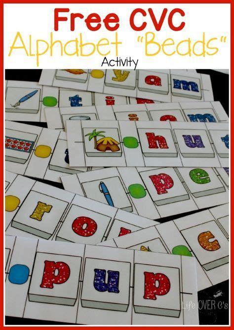 cvc word building alphabet beads activity
