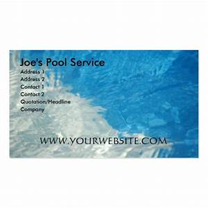 Pool service double sided standard business cards pack of for Pool service business cards