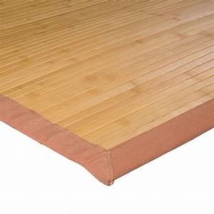 Tapis En Bois : tapis pas cher en bambou naturel 135x190cm ~ Teatrodelosmanantiales.com Idées de Décoration