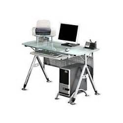 walmart com modern computer desk glass and silver
