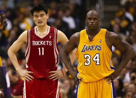 The Gallery For Shaquille Oneal Yao Ming