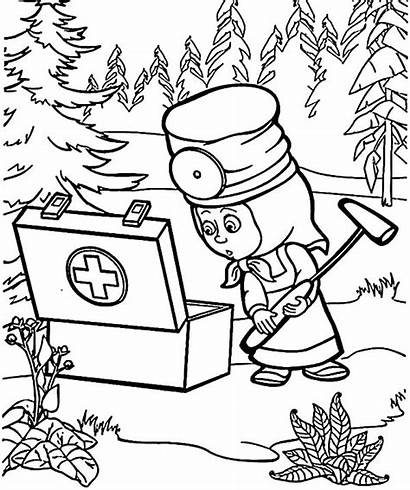 Masha Coloring Bear Oso Aid Pintar Kit