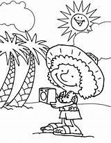 Coloring Tourist Hawaii Cartoon Disney Coloringsun Princess sketch template