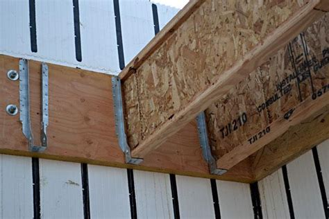 tji floor joist hangers how to frame a floor inside icf walls part 2 floor