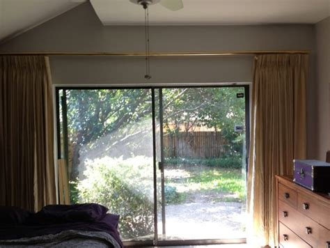 curtain ideas for sliding glass door in master bedroom