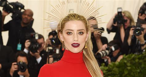 Amber Heard Is Radiant In Red At Met Gala 2018!  2018 Met